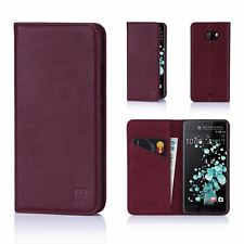 32nd Classic Series - Real Leather Book Wallet Case Cover for HTC U Ultra Htc.uultra.32ndclassic-burgundy Burgundy