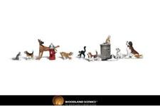 Woodland Scenics A1841 Dogs & Cats Figures HO Gauge