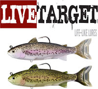 "Live Target Trout Adult Swimbait 6 1/2"" Select Colors Bass Fishing Lure Bait"