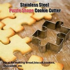 Stahl dessert cookies? puzzle - keks schimmel backen. kuchen am instrument