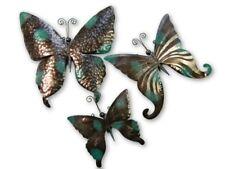 Butterfly Wall Art Ornament Metal Butterflies Wall Hanging - Set of 3 Bronze VDG