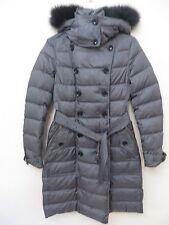 Burberry Brit Allerdale Genuine Fox Fur Trim Hooded Down Coat S XS MSRP 1395.0