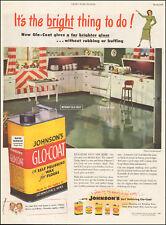 1948 Vintage ad for Johnson's Glo-coat self polishing wax retro kitchen   091917