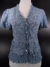 Cool Women's Medium Ralph Lauren Chaps Multi-Color Floral Peasant Style Blouse