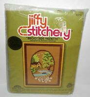 New Jiffy BROOKSIDE VIGNETTE Crewel Embroidery Kit Jennings House Creek Trees