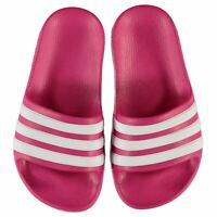 adidas Kids Girls Duramo Slide Child Pool Shoes Slip On Strap Comfortable Fit