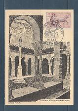 carte  1er jour  journée du timbre   38 Vienne   1963