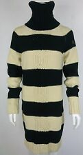 Diesel Striped Long Sleeve Women's Wool&Acrylic Top Sweater Pullover Tunic Size: