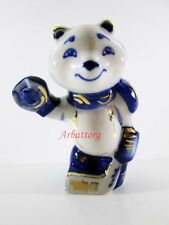 GZHEL Bear hockey Porcelain Sochi Russia Olympics Mascot Gold Figure Skating