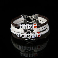 1 Pairs For Valentine's Day Gift Couples Bracelets His and Hers Charm  Bracelet