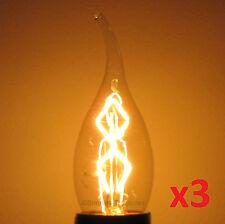 3pk Nostalgic 25W Edison Antique Chandelier Light Bulb E26 (Medium) Base Spiral