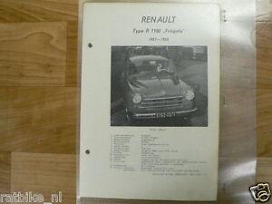 R03-RENAULT TYPE R1100 FREGATE 1951-1955-TECHNICAL INFO