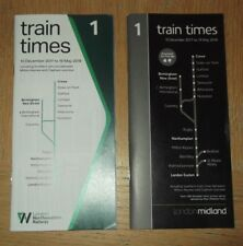 West Midlands franchise WCML services Timetables 2017/18 issued by two operators