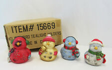 Holiday Bird Tealight Holders Set Of 4 #15669 - New in Box
