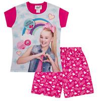 Girl's Official JoJo Siwa Rainbow Pyjamas Jo Jo Short Pajama Pjs