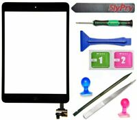 Black Touch Screen Glass Digitizer Replacement+ IC+Home Button for iPad Mini 1 2