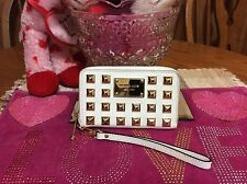 Michael Kors Gold Pyramid Studded Small Wristlet Saffiano Leather