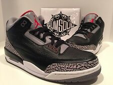 NIKE AIR JORDAN 3 RETRO III BLACK VARSITY RED CEMENT GREY 2011 136064 010 sz 11