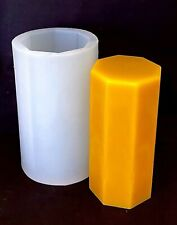 silicone octagonal pillar candle mold 3'' wide