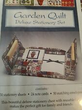 GARDEN QUILT DELUXE STATIONARY  BOXED SET/ Jewelry Box