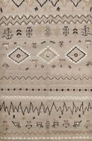 Tribal Geometric Moroccan Oriental Area Rug Hand-knotted Modern Wool 6x7 Carpet