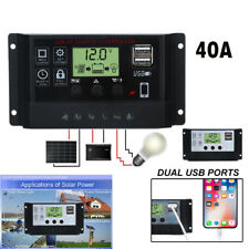 2018 Solar Panel Regulator Charge Controller USB 12V-24V with Dual USB Charger