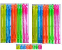 20 X Mini Neon Bubble Wands Kids Rainbow Party Bag filler Favors Outdoor Toy Fun