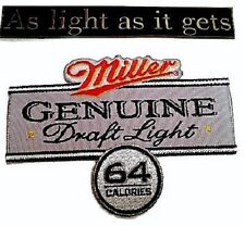 Miller Beer Nascar Racing Embroidered Patch Set large