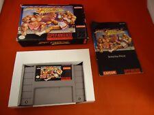 Street Fighter II Turbo Super Nintendo SNES COMPLETE w/ Box manual game WORKS!