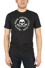 black rebel motorcycle club-- männer skull & pistons slim fit t-shirt in schwarz