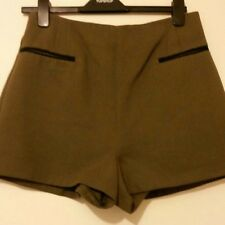 Topshop Women's Short in Olive Green Size 6 10 12