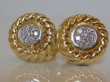 $2495 DAVID YURMAN 18K GOLD DIAMOND COOKIE EARRINGS
