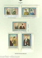 FUJEIRA CHARLES  De GAULLE MEMORIAL WITH KENNEDY CHURCHILL  QEII  SET MINT HINGE