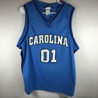 Vintage Foot Locker NCAA North Carolina Tarheels #01 Basketball Jersey Mens XL