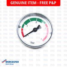 """Worcester Highflow 3.5, 4.5 calibrador de presión 50mm 1/8"""" 4 Bar 87161423580-Nuevo"""