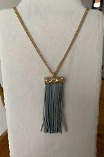 Plunder Design Fashion Vintage Jewelry Leather Tassel On Adj Gold Chain Necklace