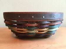 Longaberger 2013 Small Oval Autumn Roads Booking Basket w/ Protector