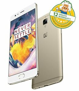 OnePlus 3T Gold 64GB (Unlocked) Dual SIM Android Smartphone 6GB RAM 4G GRADE B+