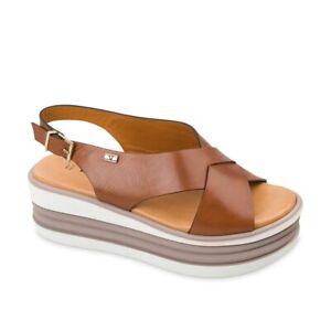VALLEVERDE 28101 sandalo Cuña Zapatos Mujer Cuero