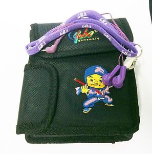 Gameboy Advance Carry Case for System Games Accessories +Purple  Earphone  V49