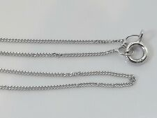 """SOLID 9CT WHITE GOLD CHAIN -  18"""" - 0.6g"""