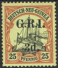 GRI NEW GUINEA 1914 YACHT 3D ON 25PF 6MM SPACING NO GUM