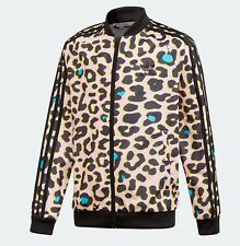GIRLS ADIDAS ORIGINALS LZ LEOPARD PRINT SST TRACKTOP BNWT AGES  8-14 SALE TODAY