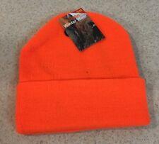 Hunter Orange Heavy Stocking Cap Beanie Winter Stocking Deer Hunting Fishing Hat
