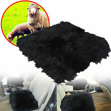 "AU 18""×18"" Natural Pelt Sheepskin Long Wool Car Seat Cover Chair Cushion Mat Pad"