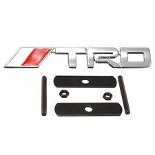 1Pcs Auto Car 3D Metal Chrome Silver TRD Logo Front Grille Grill Badge Emblem Fo