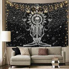 US Ship Hippie Mandala  Tapestry Skull Print Wall Hanging Throw Tapestries Decor