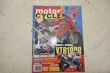 Australian motorcycle news. 1996. Honda VTR1000. Cagiva River.