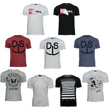 New Men's Diesel Short Sleeved Round Neck T-Shirts Top