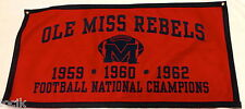 Ole Miss Rebels Football NCAA National Championship Banner
